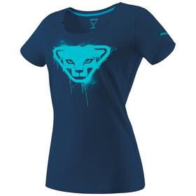 Dynafit Graphic Katoenen T-shirt Dames, poseidon/stencil